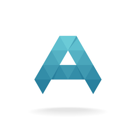 ail: A letter logo template. Triangle polygons style.