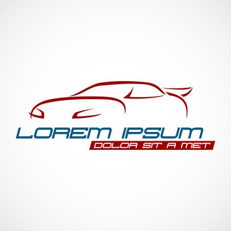 silhouette voiture: Silhouette de voiture logo