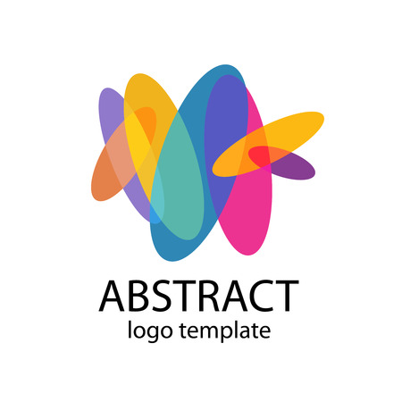 Abstract colorful shapes logo template Illustration