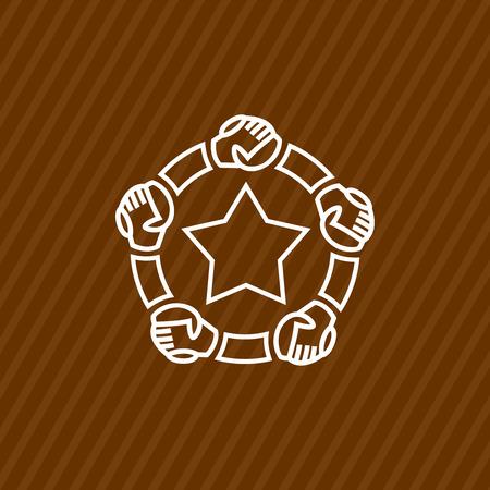 brother brotherhood: Community logo template Illustration