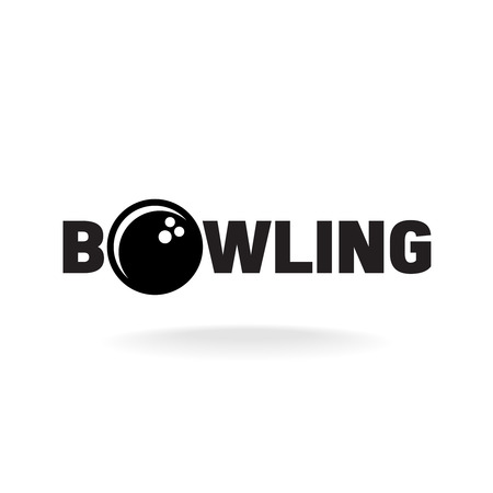 championship: Bowling word logo with ball in O letter place.