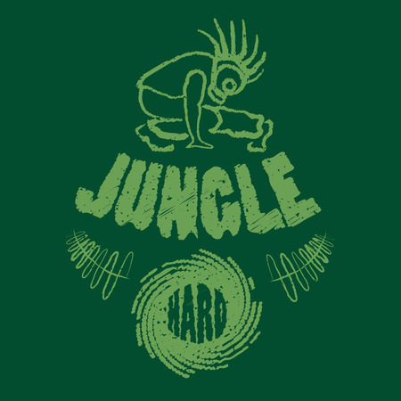 rastaman: Ragga jungle t-shirt music illustration