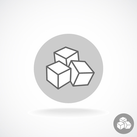 sugar cube: Sugar logo. Three cubes.