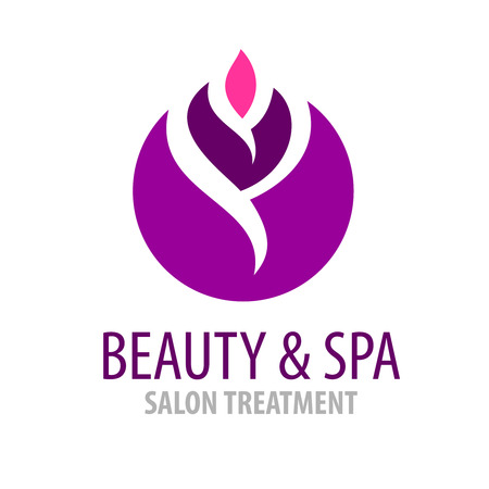 a bud: Spa treatment salon logo template