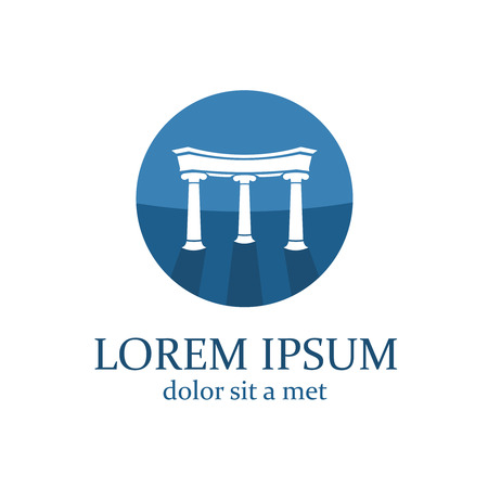Lawyer logo template. Architecture elements with columns. 일러스트