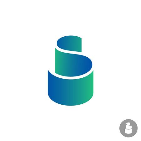 papier a lettre: S couleur lettre ruban logo modèle