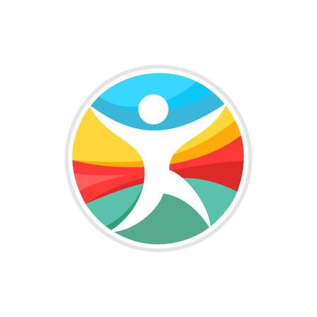 saludable logo: Hombre corriente logotipo de la plantilla Vectores