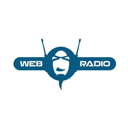 인터넷 라디오 로고 일러스트