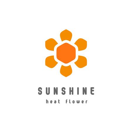 energy logo: Sunshine flower logo template Illustration