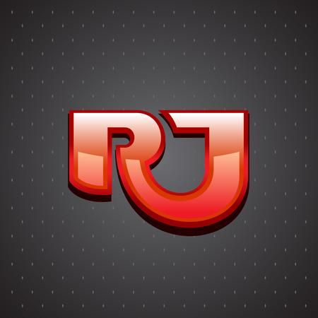 ligature: R and J letters ligature sign. Luxury design concept.