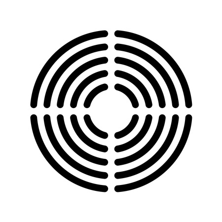 concentric: Speaker grille concentric lines template Illustration