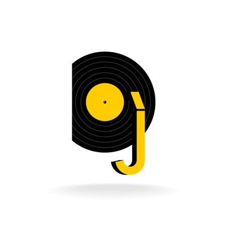 logo music: DJ logo concept. Music sign. Illustration