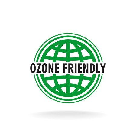 earth globe: Ozone friendly sign. Globe green symbol.