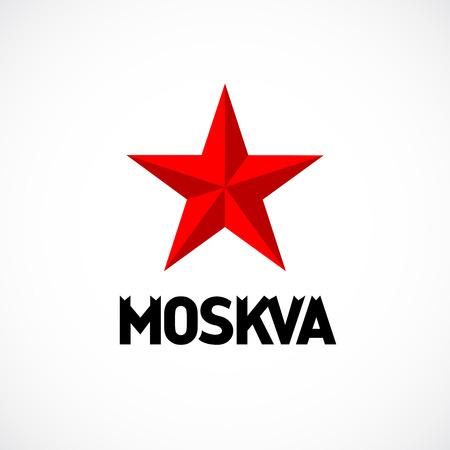 logotipo turismo: Moscú emblema con el logotipo de la estrella roja.