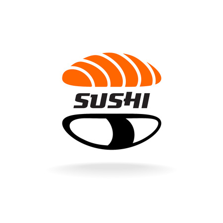 salmon: Sushi logo template