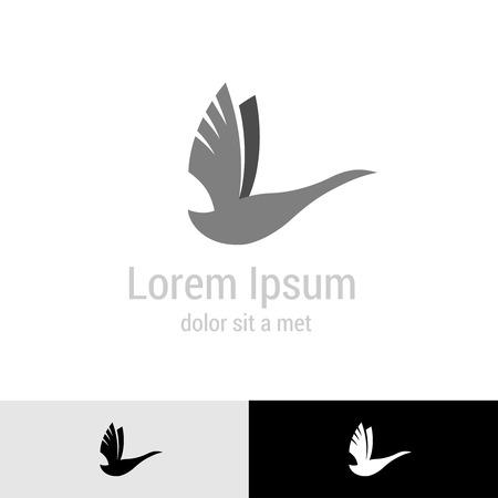goose: Swan silhouette logo template