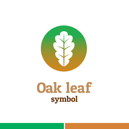 oak: Oak leaf symbol logo. Nature theme template.