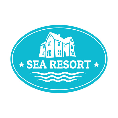 resort: Seaside real estate logo template