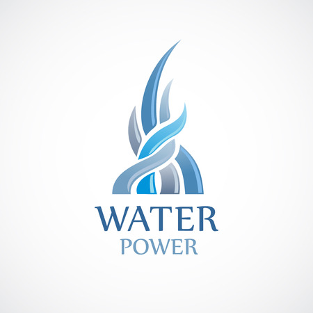 upstream: Upstream water flows logo template
