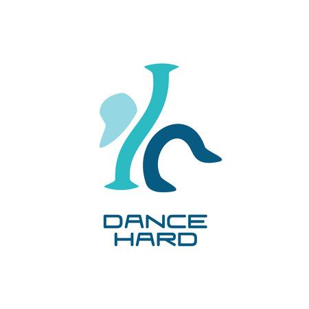 modern  dance: Modern dance school logo template