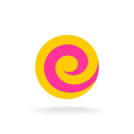 lollypop: Letter E colorful logo template. Lollipop concept. Illustration