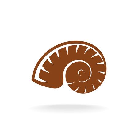 fibonacci: Vector shell silhouette. Snail home.