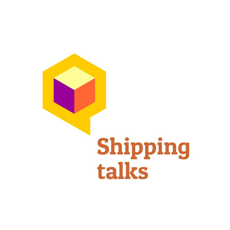moving box: Shipping talks forum boards logo template.