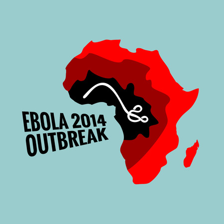 ebola: Ebola virus outbreak illustration 2014