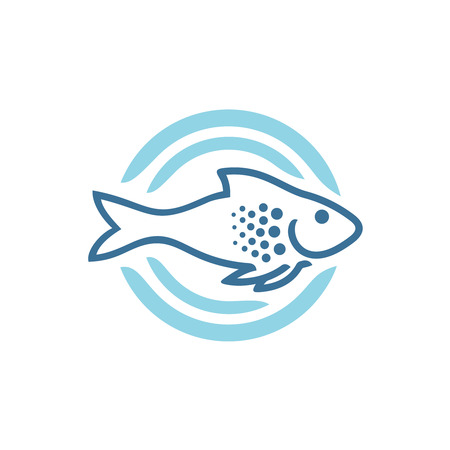 Fish logo template Vectores