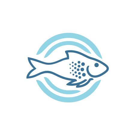 Fish logo template Illustration
