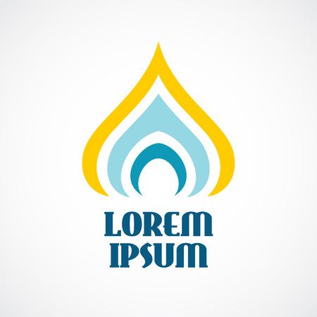 Religión plantilla de logotipo. Estilizada cúpula de la iglesia ortodoxa o una vela.