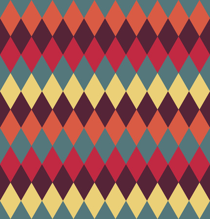 vintage wall: Circus seamless background. Contrast dark rhombus pattern.