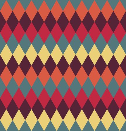 vintage: Circus seamless background. Contrast dark rhombus pattern.