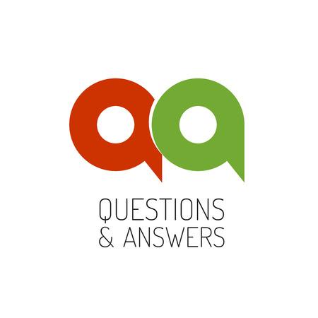 control de calidad: QA plantilla concepto logotipo. Letras Q y un símbolo.