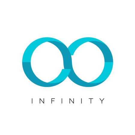 infinity: Infinity logo flat colors template
