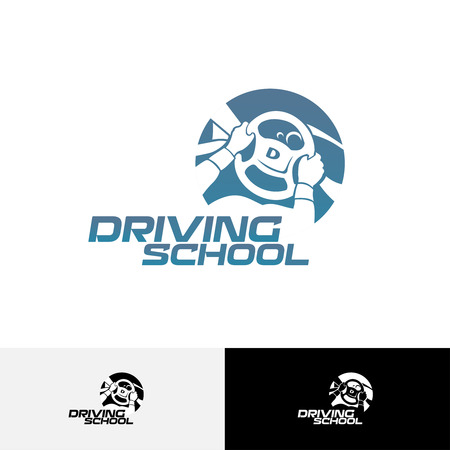 steering: Driving school logo template