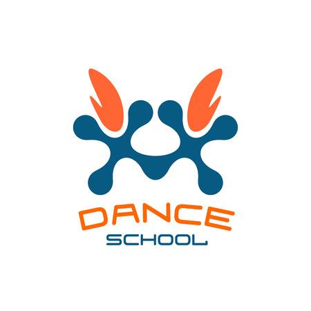duet: Dance school logo template. Modern style.