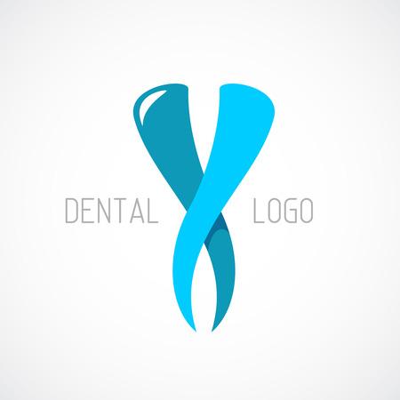 歯科のロゴのテンプレートです。口腔病学の記号。
