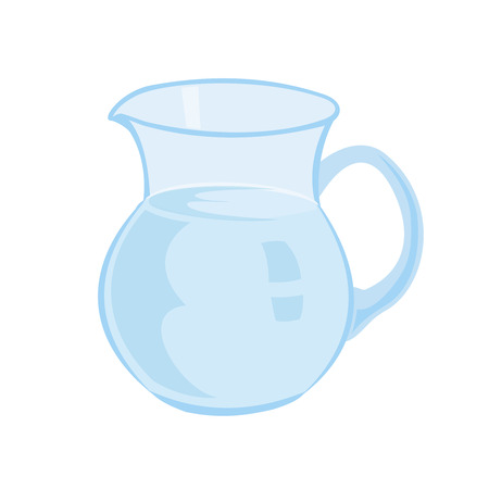 milk jugs: Jug with milk isolated on a white background vector illustration. Transparent top.