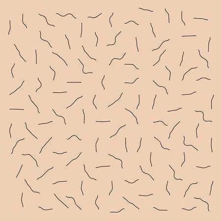 Piel con el patrón de cerdas sin afeitar. Ilustración de vector