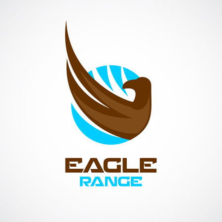 Eagle wing and head logo template