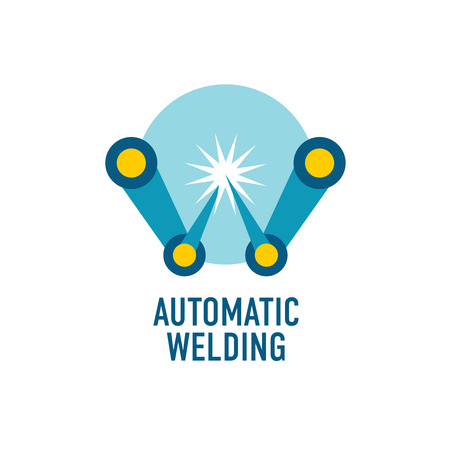 machining: Automatic welding logo template. Letter W.