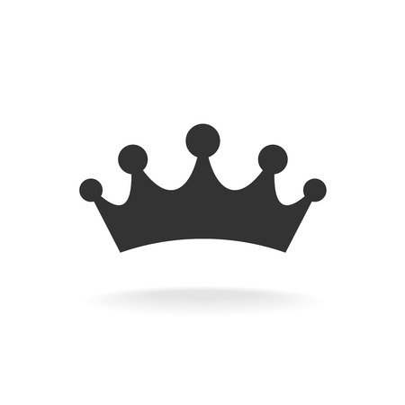 Crown of earl vector illustration. Black isolated silhouette on a white background. Reklamní fotografie - 42116951