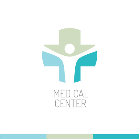 medical cross symbol: Medical center logo template