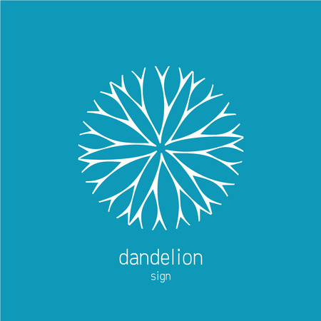 dandelion abstract: Dandelion logo template. Cosmetics natural symbol.