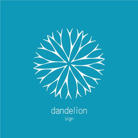 Dandelion logo template. Cosmetics natural symbol.