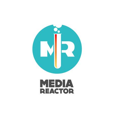 reactor: Media reactor logo concept