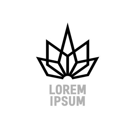 Plantilla de logotipo de cristal geométrico abstracto. Esquinas Construcción firman. Foto de archivo - 42121604