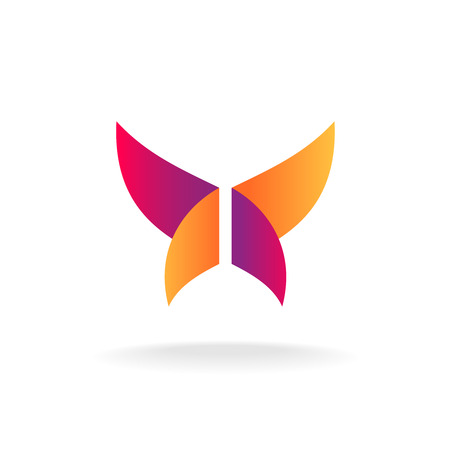 purple butterfly: Abstract butterfly logo