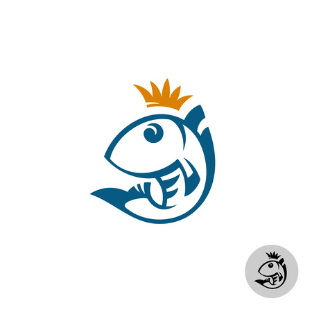 queen: Fish logo template Illustration